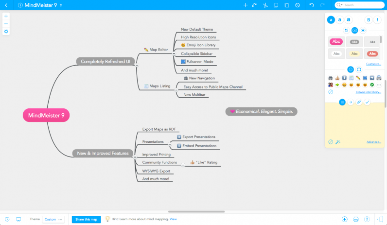 MindMeister 9 Mind Map Editor