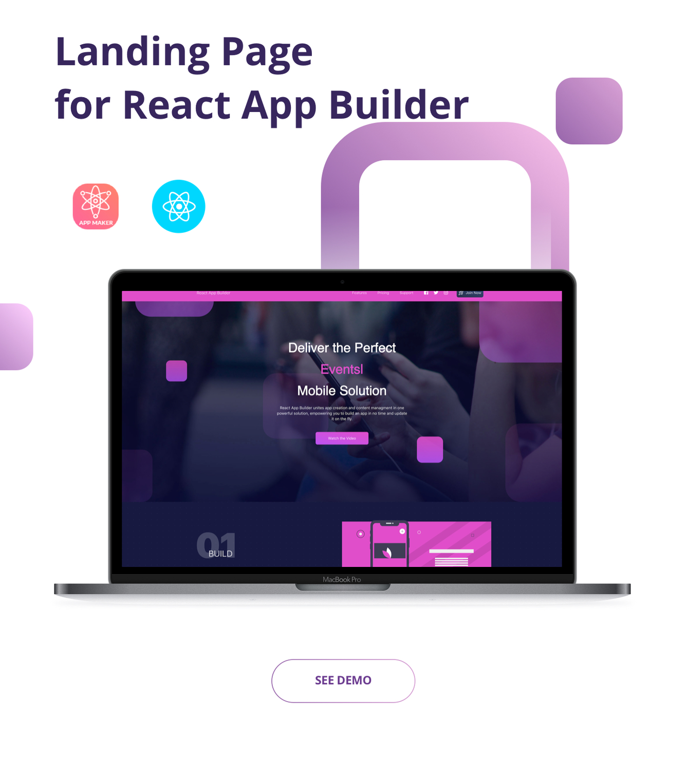 Landing Page for React App Builder. - 1