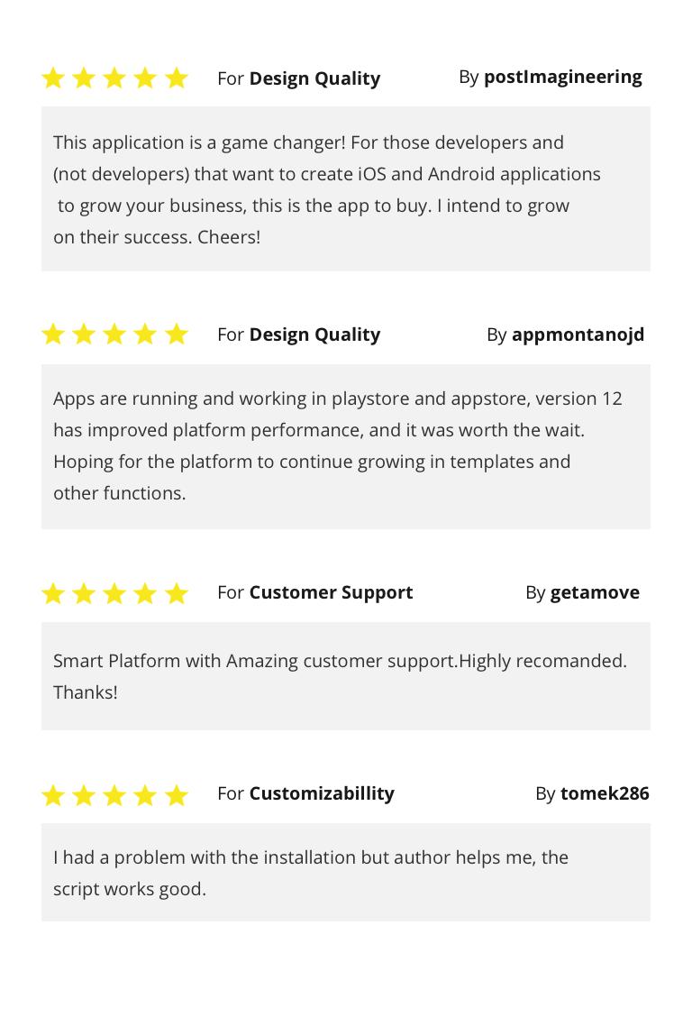 React App Builder - SaaS - Unlimited number of apps - 5